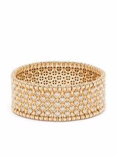 Pragnell широкий браслет из желтого золота с бриллиантами
