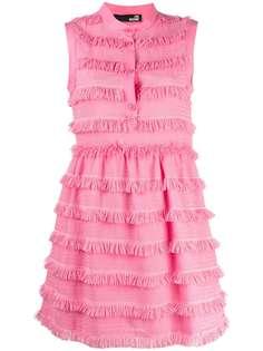 Love Moschino ярусное платье миди без рукавов