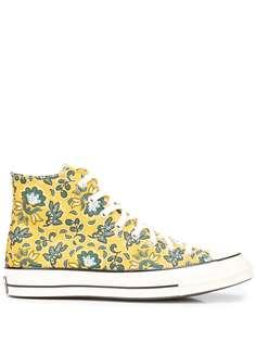 Converse высокие кеды с цветочным принтом