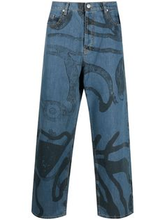 Kenzo широкие джинсы K-Tiger