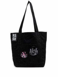 Raf Simons сумка-тоут со значками