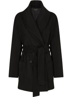 Dolce & Gabbana кашемировое пальто с поясом