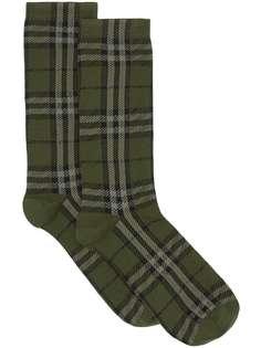 Burberry носки вязки интарсия в клетку