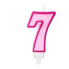 Свеча праздничная Party Deco 7 розовая 7см