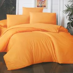 Комплект постельного белья La Besse Премиум Сатин горчичный Кинг сайз