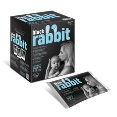 Подгузники Black Rabbit, 4-8 кг, S, 32 шт