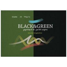 Альбом для рис.пастелью Kroyter А4 10л,блок серый тонир. картон 760г,7590 Кройтер