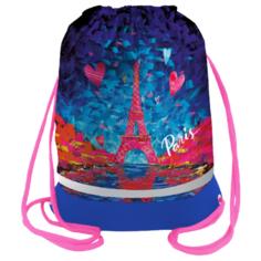 Berlingo Мешок для обуви Eiffel Tower (MS09440) розовый/синий