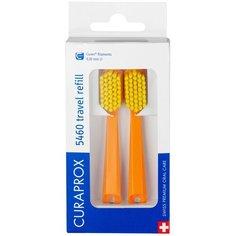 Сменная насадка для зубной щетки Curaprox Сменные зубные щетки СS 5460 для дорожного набора Be you, оранжевый, 2 шт.