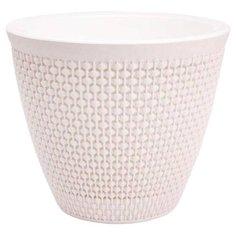 Горшок для цветов со съемным кашпо OSLO диаметр 17 см объем 2,25 л молочный Plast Team