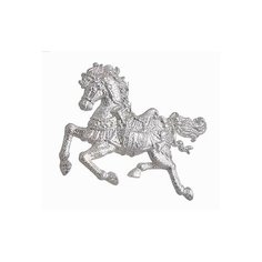 Елочное украшение ЛОШАДКА прозрачно-белая-серебристая, 10 см, разные модели, ЦАРЬ ЕЛКА 130509