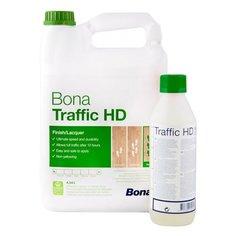 Лак Bona Traffic HD шелковисто-матовый полиуретановый бесцветный 4.95 л