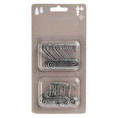 Крючки для елочных украшений, серебряные, 4.5 см, набор 40 шт., Koopman International AWR000040