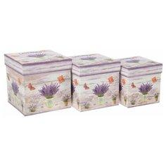 Набор подарочных коробок Yiwu Youda Import and Export Весенняя палитра, 3 шт. бежевый/сиреневый