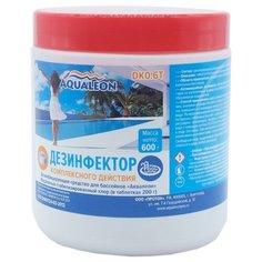 Aqualeon / Дезинфектор медленный стаб. хлор в таблетках 200 г. 3 в 1 (хлор,альгицид,коагулянт) 0,6кг.