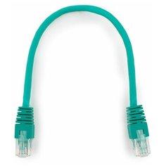 Патч-корд UTP Cablexpert PP6U-0.25M/G кат.6, 0.25м, литой, многожильный (зелёный)