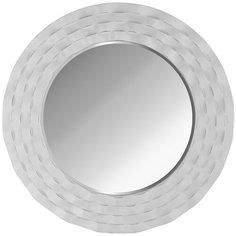 Зеркало настенное PATTERHOME МАРБЕЛЬЯ БЕЛОЕ СЕРЕБРО, 90см х 90см, круглое, белое