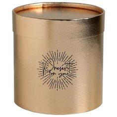 Коробка подарочная Дарите счастье для цветов Present for you 15 х 15 см золотистый