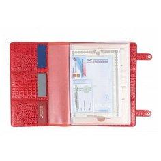 Папка/органайзер для документов из натуральной кожи Assistant, А4 Кайман Красный Cashalots