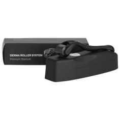Premium Titanium Black DermaRoller Мезороллер для лица 540 игл длиной Dermarollersystem