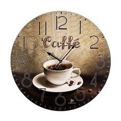 Часы настенные кварцевые Lowell 21417 коричневый