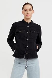 джинсовая куртка с воротником-стойкой Finn Flare