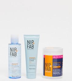 Набор из 3 отшелушивающих средств по уходу за кожей с гликолевой кислотой NIP+FAB (СКИДКА -42%)-Бесцветный