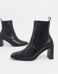 Черные ботинки челси накаблукеRAID-Черный