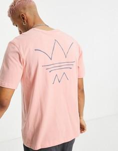 Коралловая футболка с абстрактным принтом adidas Originals RYV-Розовый