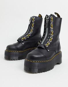 Эксклюзивные черные ботинки с 10 парами люверсов наплатформе Dr Martens Sinclair-Черный цвет