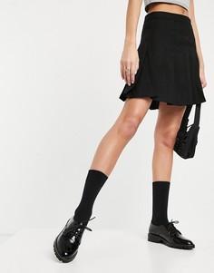 Черные броги на шнуровке Miss Selfridge-Черный цвет