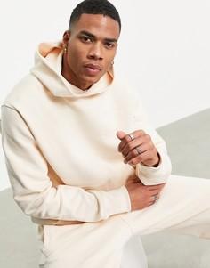 Худи премиум-класса цвета экрю adidas Originals x Pharrell Williams-Белый