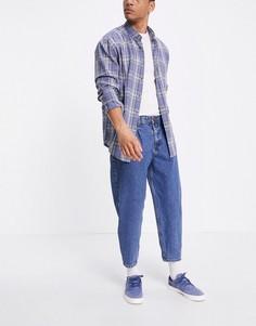 Темно-синие выбеленные джинсы-бананы Tom Tailor-Голубой