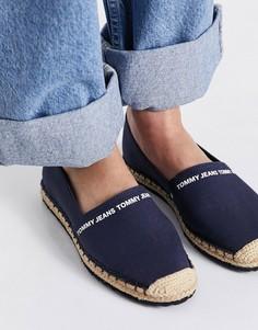 Темно-синие текстильные эспадрильи с логотипом Tommy Jeans-Темно-синий