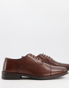 Оксфордские кожаные туфли коричневого цвета на шнуровке Silver Street-Коричневый цвет