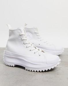 Полностью белые кроссовки Converse Run Star Hike-Белый