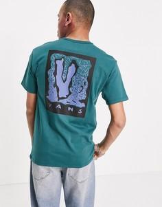 """футболка с принтом """"Off the Wall"""" из шелковой ткани «джаспер» Vans-Серый"""