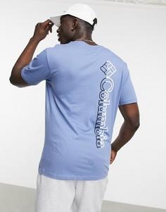 Светло-синяя базовая футболка с логотипом Columbia CSC-Серый