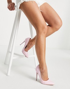 Розовые туфли-лодочки на шпильке ASOS DESIGN-Белый