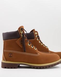 Коричневые ботинки высотой 6 дюймов Timberland Premium-Коричневый цвет