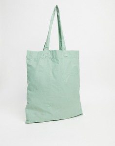 Светло-зеленая сумка-тоут из органического хлопка ASOS DESIGN-Зеленый цвет
