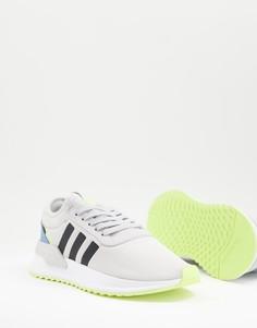 Серо-желтые кроссовки adidas Originals U Path-Серый