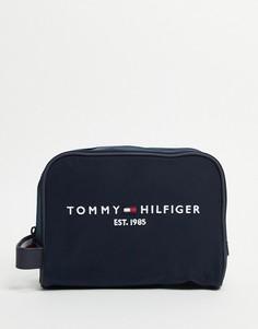 Темно-синий несессер с логотипом с датой создания бренда Tommy Hilfiger