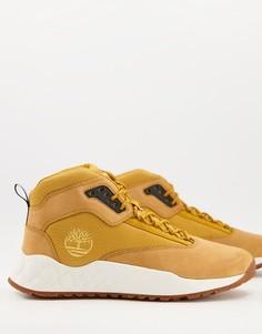 Коричневые ботинки средней высоты Timberland Solar Wave-Коричневый цвет