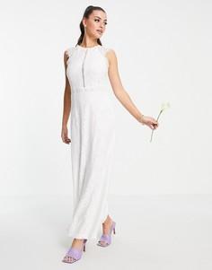Белое свадебное платье с кружевной отделкой Vila-Белый