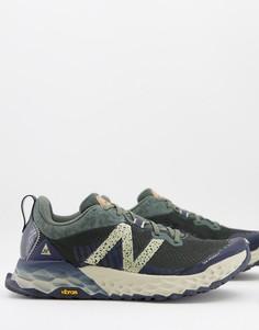 Серо-зеленые кроссовки New Balance Trail Fresh Foam Hierro-Серый