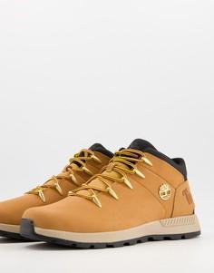 Светло-коричневые ботинки средней высоты Timberland Sprint Trekker Mid-Коричневый цвет