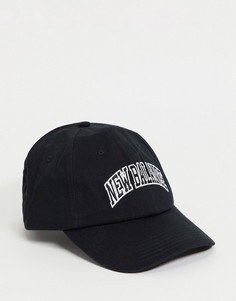 Черная кепка с логотипом в университетском стиле New Balance-Черный цвет