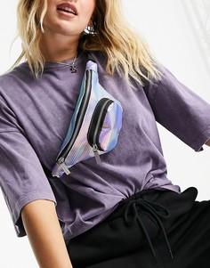 Многоцветная сумка-кошелек на пояс с голографическим эффектом Skinnydip-Многоцветный