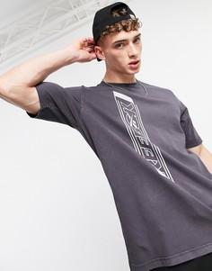 Черная футболка с принтом Reebok Classics-Черный цвет